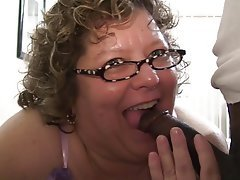 BBW, Blowjob, Granny, Interracial