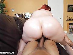 Booty Redhead Bbw Big