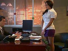 Office, Brunette, Mistress, Stockings