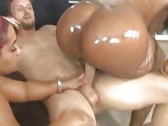 BBW, Big Butts, Femdom, Interracial