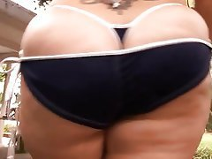 BBW, Big Boobs, Blowjob, Interracial